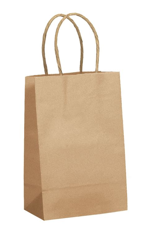 shopping bags kraft twisted handle shopping bags