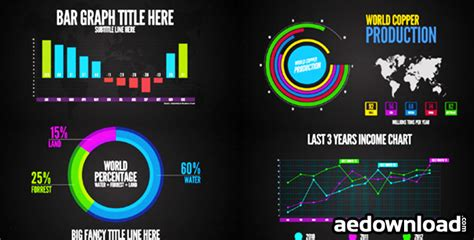 after effect template project infographics after effects project videohive free