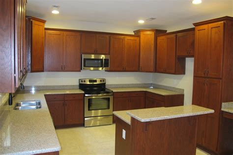 Kitchen : Captivating Design Of Cherry Cabinets Bring Well