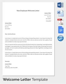 Hr Letter Sle Employee Welcome Letter Template 28 Images 9 New Employee Welcome Letter Sle Template