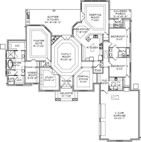 floor plan with safe room house plans