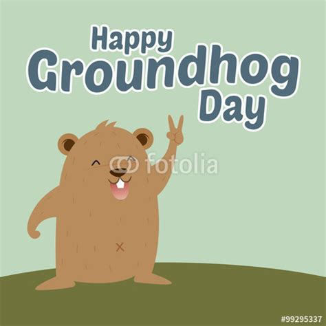 groundhog day expression meaning quot groundhog saying happy groundhog day quot stock image and