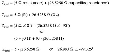 capacitive reactance current formula series resistor capacitor circuits reactance and impedance capacitive