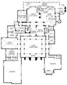 Spanish Floor Plans by Spanish Style Home Floor Plans Dream House Pinterest