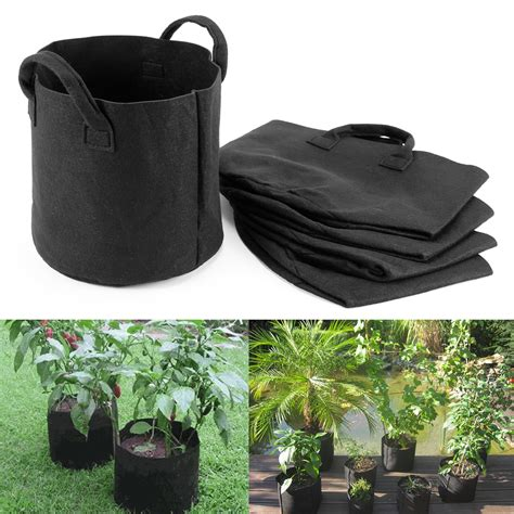 Easy Grow Planter Bag Planter Bag 15 Liter Hitam 3 5pcs fabric pots plant pouch root container grow bag aeration pot container ebay