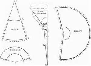 sheet metal cone template funnel patterns