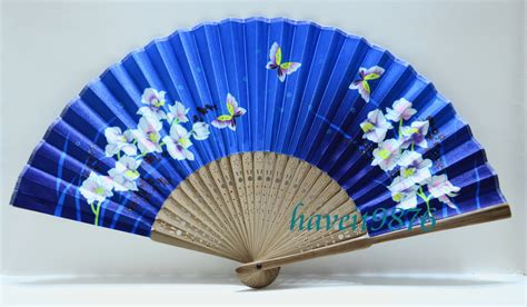 Handmade Fans - made silk japanese fan folding fan by