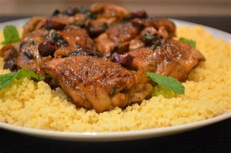 moroccan chicken with couscous trials in food