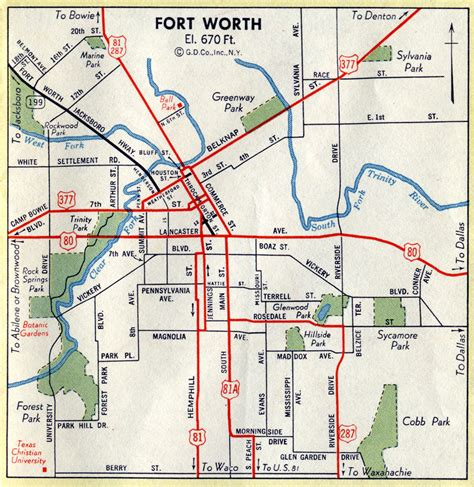 texas fort worth map highway maps of texas