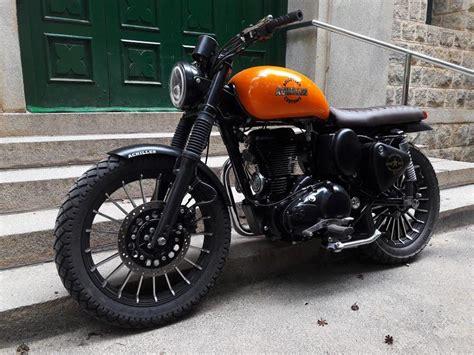 modified bullet bikes achilles royal enfield scrambler by bulleteer customs