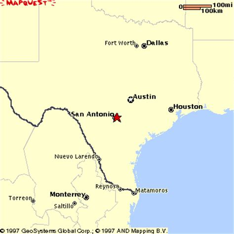 the alamo texas map san antonio map