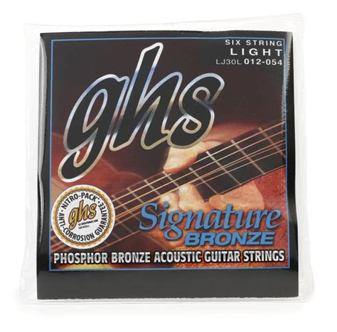 Ghs Lj30l Laurence Juber Signature Bronze Light Acoustic Light Guitar Strings