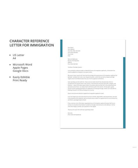 12 Sle Character Reference Letters Pdf Word Pages Google Docs References Template Docs