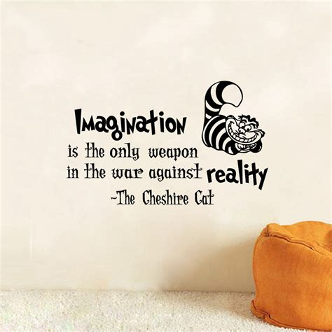 wallpaper dinding quote sticker wallpaper dinding imagination cat size m black