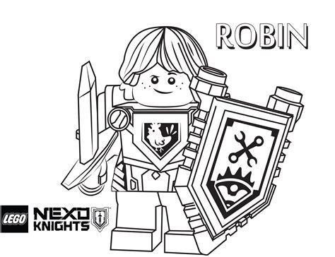 Robin Coloring Page, Printable Sheet   LEGO Nexo Knights