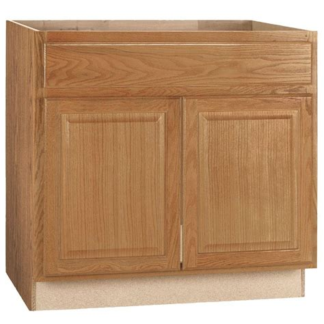 Sink Base Kitchen Cabinet Hton Bay Hton Assembled 36x34 5x24 In Sink Base Kitchen Cabinet In Medium Oak Ksb36 Mo