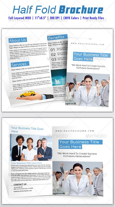 half fold brochure template by azadcsstune graphicriver
