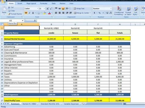 Rental Income Expenses Spreadsheet by Vacation Rentals By Owner Expenses Spreadsheet Rental