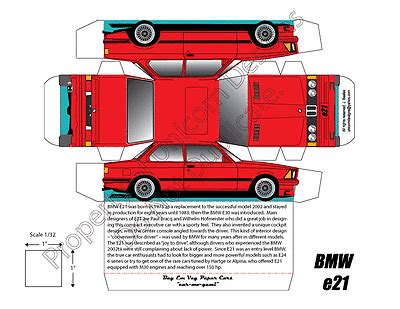 How To Make Paper Car Models - a pair of bmw paper model car bmw e21 collectible