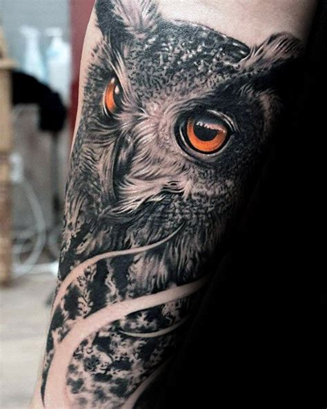 realistic owl tattoo 40 owl forearm designs for feathered ink ideas