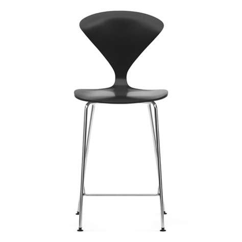 norman cherner counter bar stool chrome base in