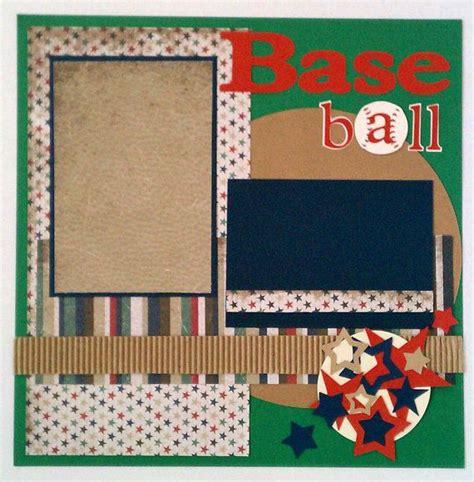 ladybug scrapbook layout baseball sports boys premade scrapbook layout page