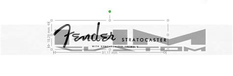 Fender Stratocaster With Synchronized Tremolo Logo Decal