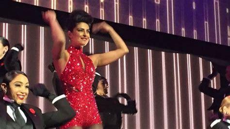 priyanka chopra dancing with the stars priyanka chopra sets the stage on fire at abc s upfront show
