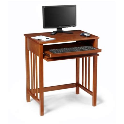 Small Wood Computer Desk Compact Wood Computer Desk In Desks