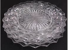 Fostoria American Dinner Plates Set of 4 Nine Inch Glass ... Linens Things