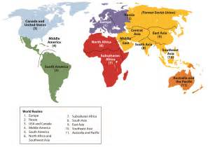 World Region Map by World Regional Geography People Places And