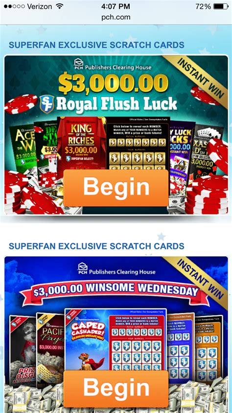 Pch Instant Win Scratch Card - more exclusive scratch cards for pchsuperfans at pch com pch blog