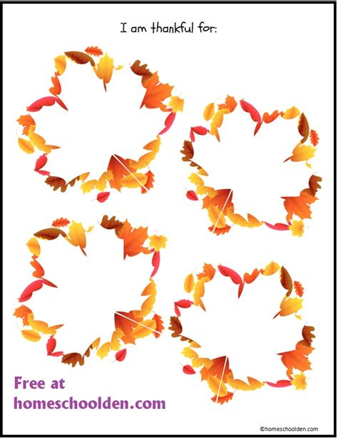 printable leaves for thanksgiving thankful leaves writing printable free homeschool den