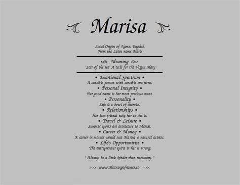 what does the name marisa meaning of name