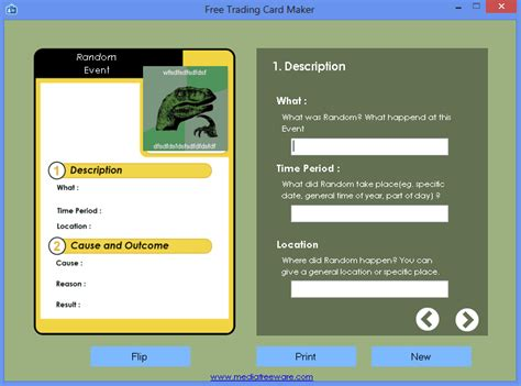 Free Card Template Maker by Free Trading Card Maker