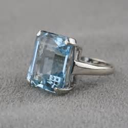 Awesome Sterling Silver Wedding Bands #4: 462119-14k-pre-owned-white-gold-aquamarine-ring.jpg