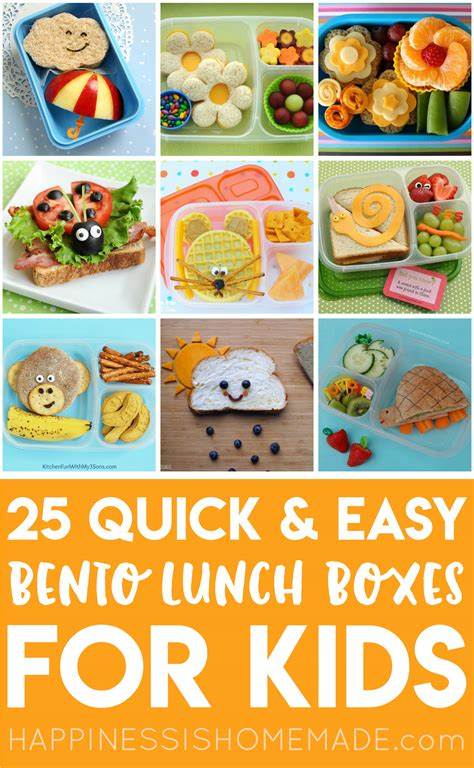 Simple Lunch Box 25 easy bento lunch boxes for happiness is