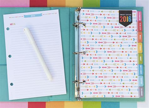 free printable organizer planner 2016 2016 everyday planner