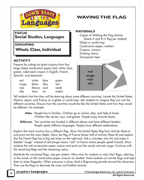 flags of the world lesson plan waving the flag free social studies activities for kids