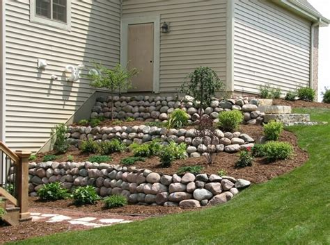 walkout basement backyard ideas landscaping for a steep walk out basement yard google