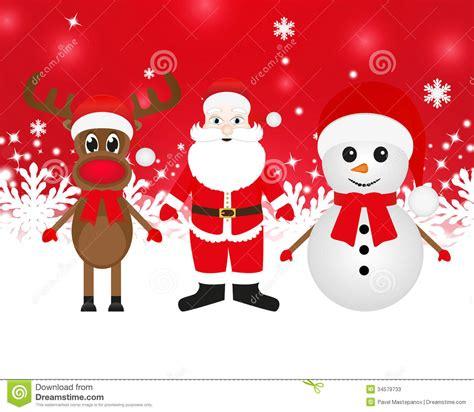 imagenes de santa claus y la navidad reno mu 241 eco de nieve y santa claus de la navidad fotos de