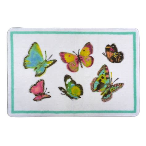 Butterfly Bathroom Rug Essential Home Tahka Butterfly Wastebasket Home Bed Bath Bath Bath Utility Hardware