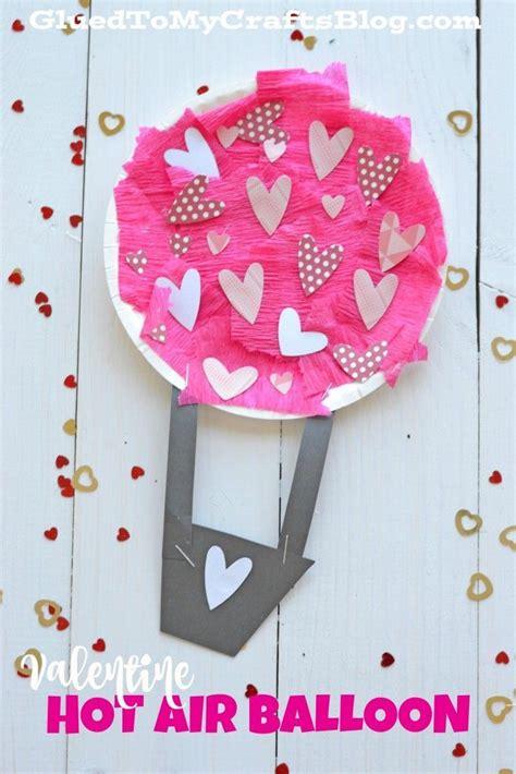Valentine hot air balloon kid craft speech therapy