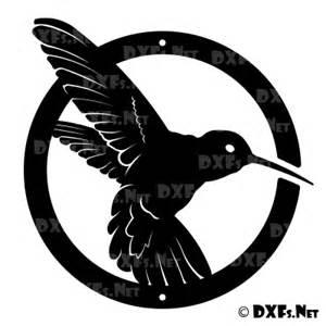 dxf201 hummingbird circle design ready to cut cnc dxf