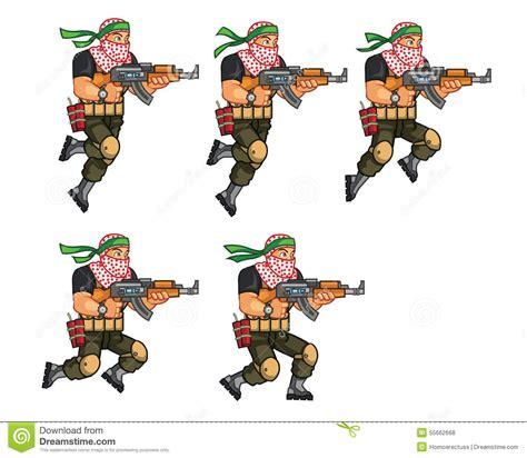 Necapaific Crim Ultimate Dipsy Dangers militia jumping sprite stock vector illustration of dangerous 55662668