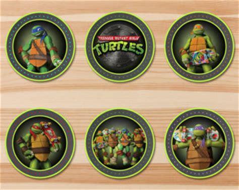 printable tmnt stickers ninja turtle cupcake etsy