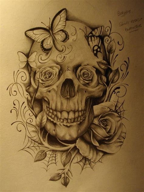 unique skull tattoos unique skull and roses by edgardo howe for on