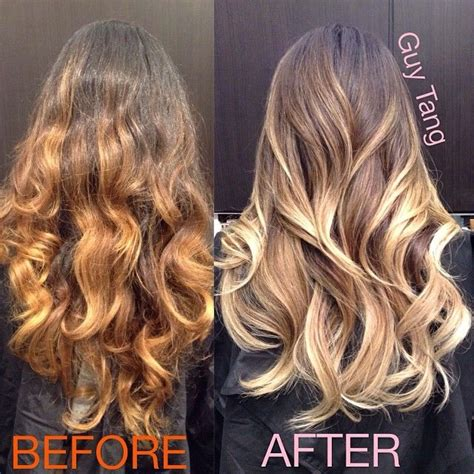 guy tang hair before and after high contrast ombre and not a dip dye ombre this is why