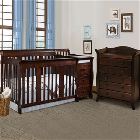 storkcraft portofino convertible crib and changer combo espresso storkcraft baby furniture and cribs changing tables and