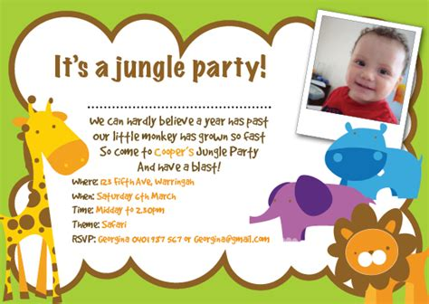 jungle birthday invitations ideas bagvania free